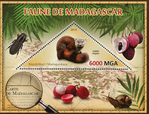 Fauna Wild Animal Galidia Elegans Souvenir Sheet Mint NH