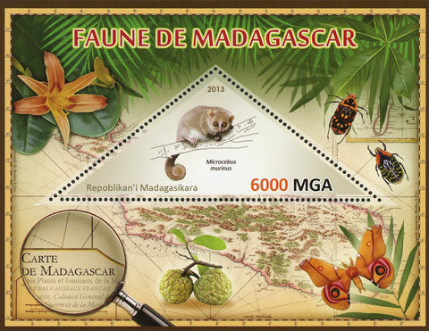 Fauna Wild Animal Microcebus Murinus Souvenir Sheet Mint NH