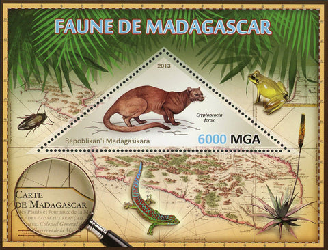 Fauna Wild Animal Cryptoprocta Ferox Souvenir Sheet Mint NH
