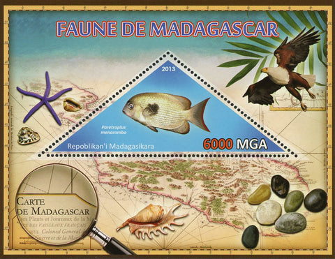 Fauna Fish Paretroplus Menarombo Souvenir Sheet Mint NH