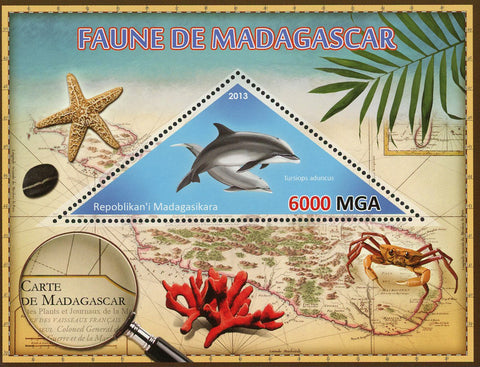 Fauna Fish Tursiops Aduncus Dolphin Souvenir Sheet Mint NH