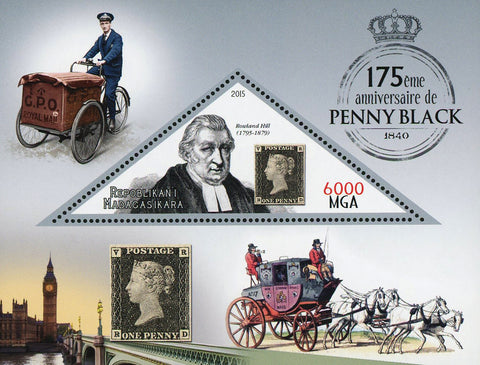 Penny Black Anniversary Rowland Hill Souvenir Sheet Mint NH