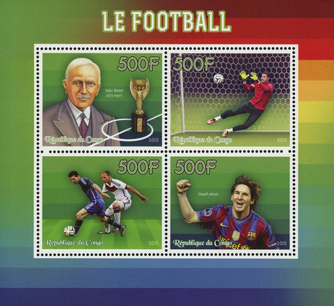 Soccer Sport Lionel Messi Souvenir Sheet of 4 Stamps Mint NH