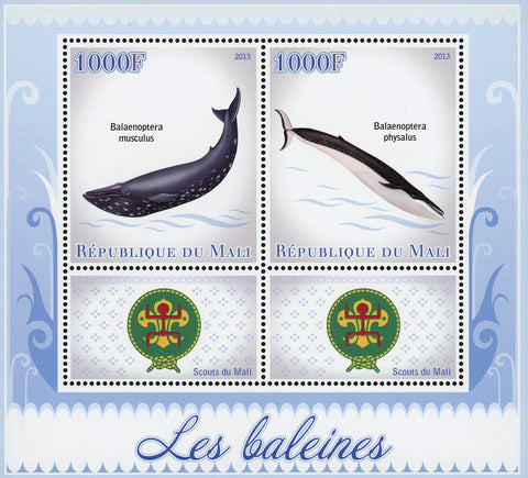 Whale Marine Fauna Souvenir Sheet of 2 Stamps Mint NH