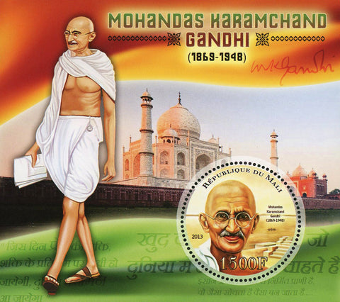 Mohandas Karamchand Gandhi Historical Figure Sov. Sheet Mint NH