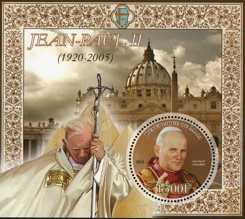 John Paul II Pope Historical Figure Sov. Sheet Mint NH