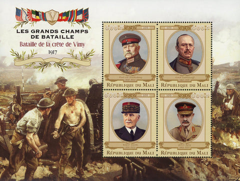 Great Battles Vimy Ridge Souvenir Sheet of 4 Stamps Mint NH