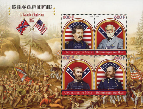 Great Battles Antietam Souvenir Sheet of 4 Stamps Mint NH