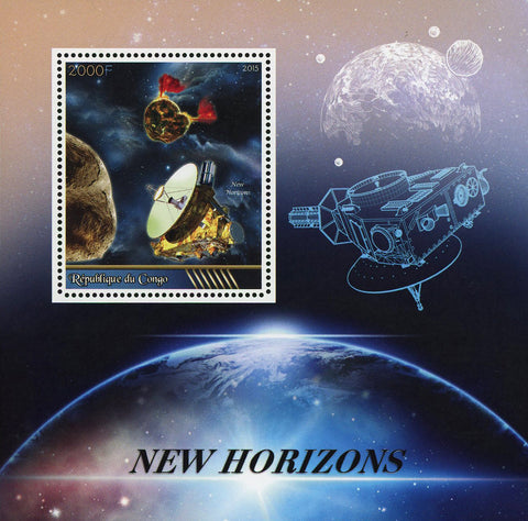 Congo New Horizons Space Satellite Probe Souvenir Sheet Mint NH