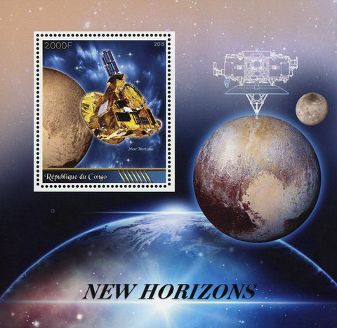 Congo New Horizons Space Satellite Probe Moon Souvenir Sheet Mint NH