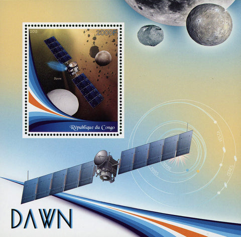 Congo Dawn Space Satellite Probe Planet Souvenir Sheet Mint NH