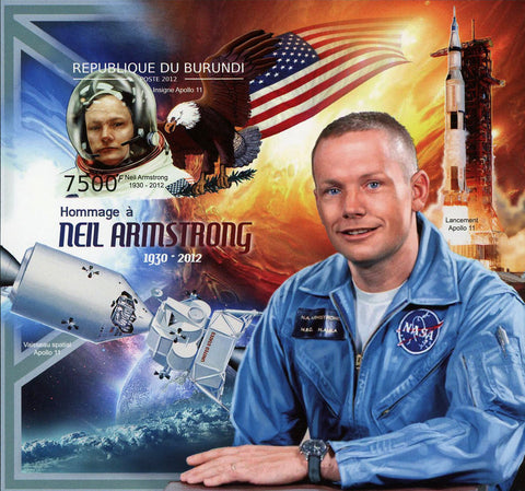 Neil Amstrong Astronaut Space Souvenir Sheet Mint NH