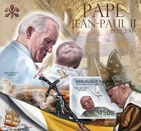 Pope John Paul II 1920-2005 Souvenir Sheet MNH