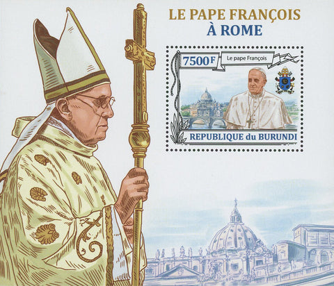 Pope Francis Rome Catholic Souvenir Sheet Mint NH