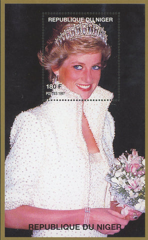 Princess Diana Royal Family Marriage Dress Souvenir Sheet MNH