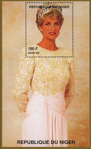 Princess Diana Royal Family Gown Dress Crown Souvenir Sheet MNH