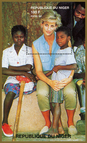 Princess Diana Royal Family Africa Children Souvenir Sheet MNH