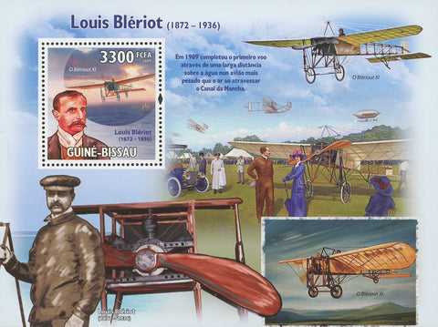 Louis Blériot Aviator Famous People Souvenir Sheet Mint NH