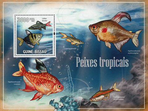 Tropical Fish Ocean Bubble Marine Fauna Souvenir Sheet MNH