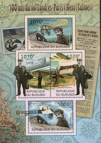 London Paris Flights Henri Salmet Sov. Sheet MNH