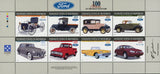 On the road with Ford Car Transportation Sov. Sheet of 8 Stamps MNH