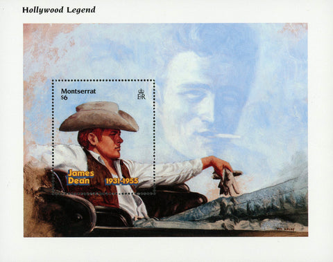 James Dean Actor Famous People Celebrity Souvenir Sheet MNH