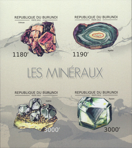 Minerals Nature Imperforate Souvenir Sheet Mint NH