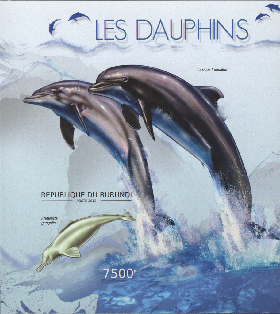 Dolphins, Fish, Marine Fauna, Ocean life, Imperforate Souvenir Sheet Min
