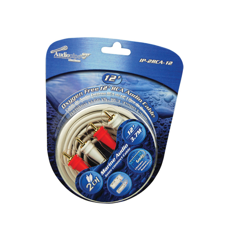 IP-2RCA-12 Oxygen Free 12' (3.7 m) 2-Channel Marine Grade RCA Audio Cable