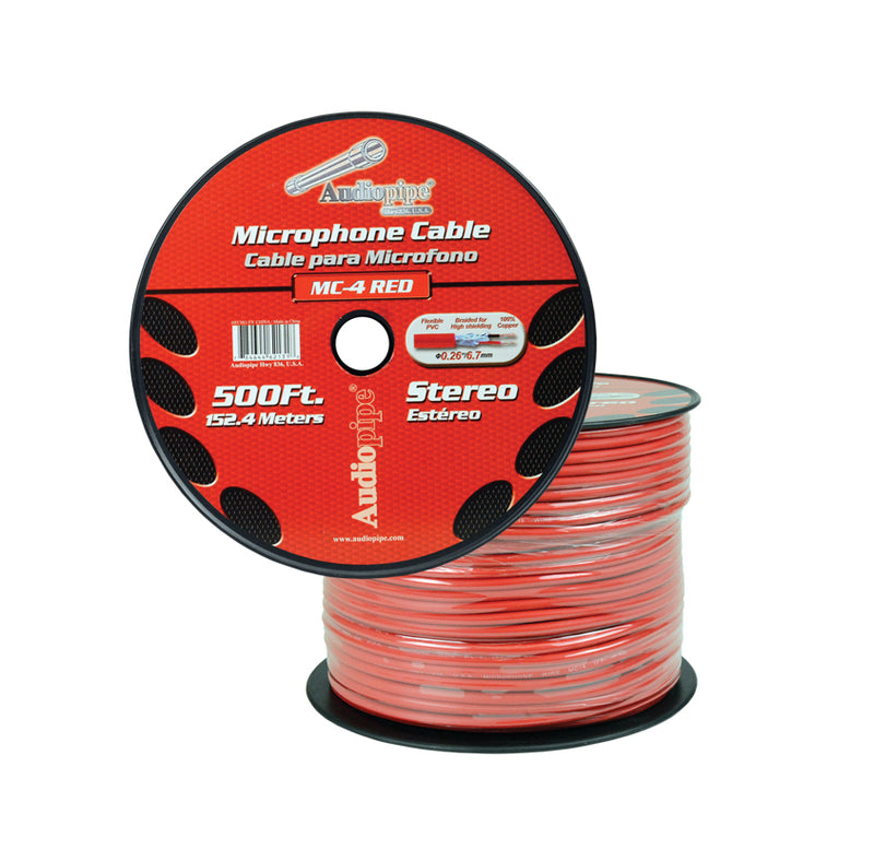 MC-4 RED 500 Ft. Microphone Cable