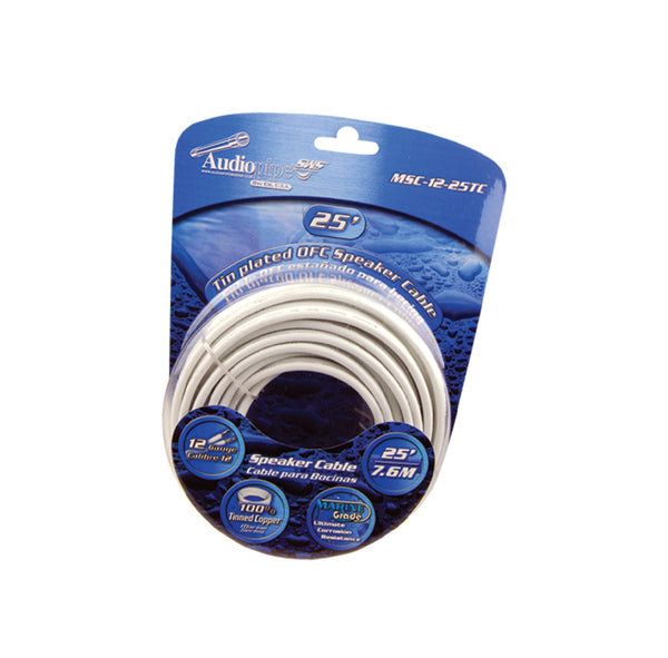 MSC-12-25TC Flexible PVC Tin Copper-Plated OFC Speaker Wire 12 AWG