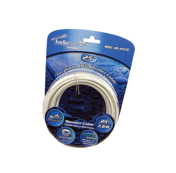 MSC-16-25TC Flexible PVC Tin Copper-Plated OFC Speaker Wire 16 AWG