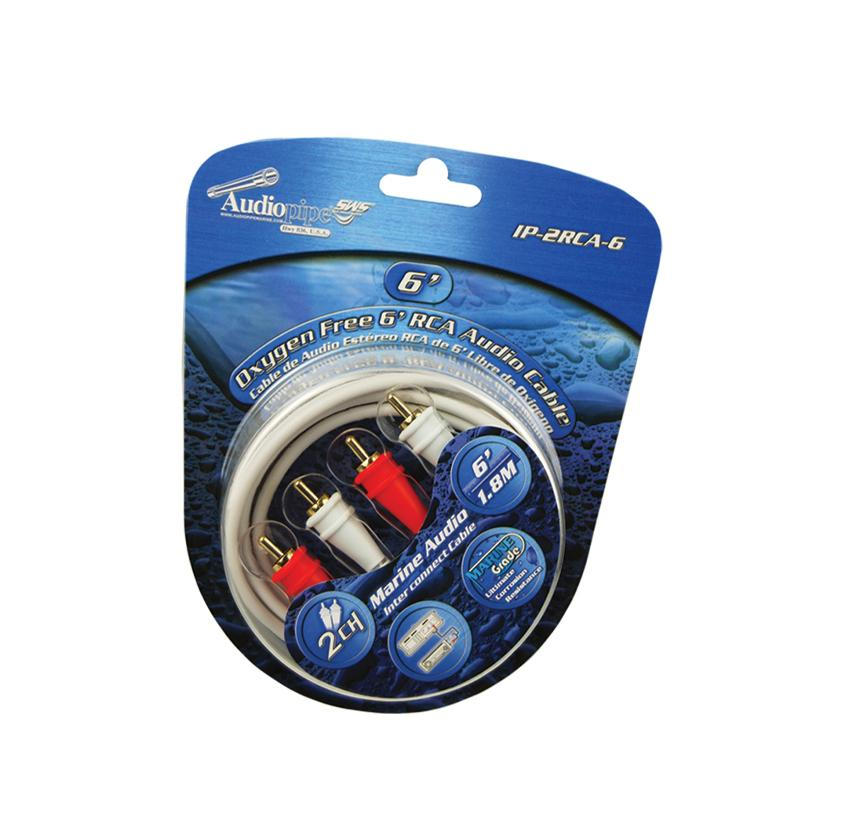oxygen free 6' rca audio cable