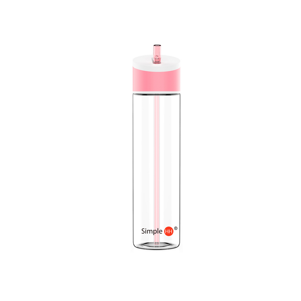 21oz Flip Straw Lid Bottle Pink Quartz