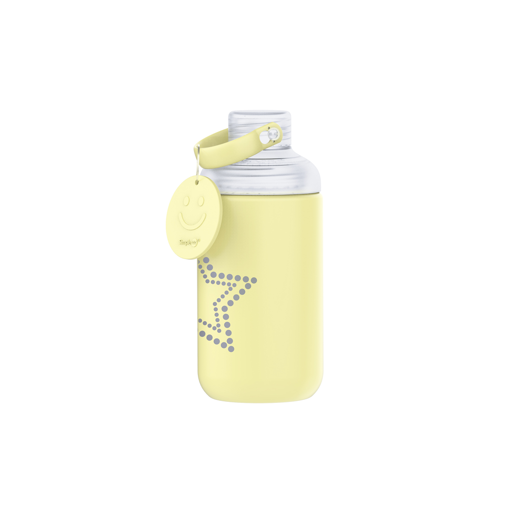 16oz Star Glass Bottle Yellow