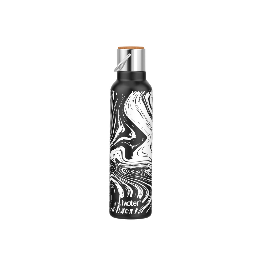 24oz Stainless Steel Wine Bottle White