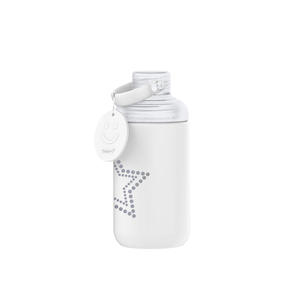 16oz Star Glass Bottle White