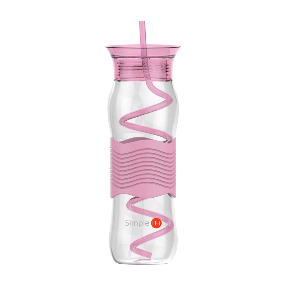 25 oz Swirl Straw Bottle - Simple HH