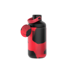 16oz Glass Tie-Dye Bottle- Red and black