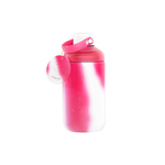16oz Glass Tie-Dye Bottle- Pink and white