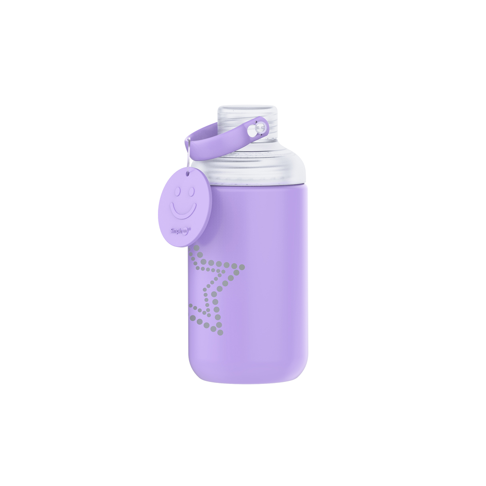 16oz Star Glass Bottle Purple