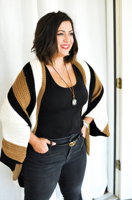Cappuccino Color Block Sweater