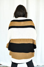 Load image into Gallery viewer, Cappuccino Color Block Sweater