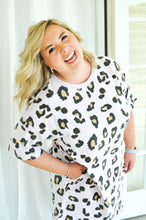 Load image into Gallery viewer, Laid Back Leopard T-Shirt Dress