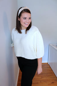Power Puff Ivory Knit Sweater