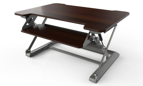 InMovement Standing Desk Pro D20 facing left without monitors