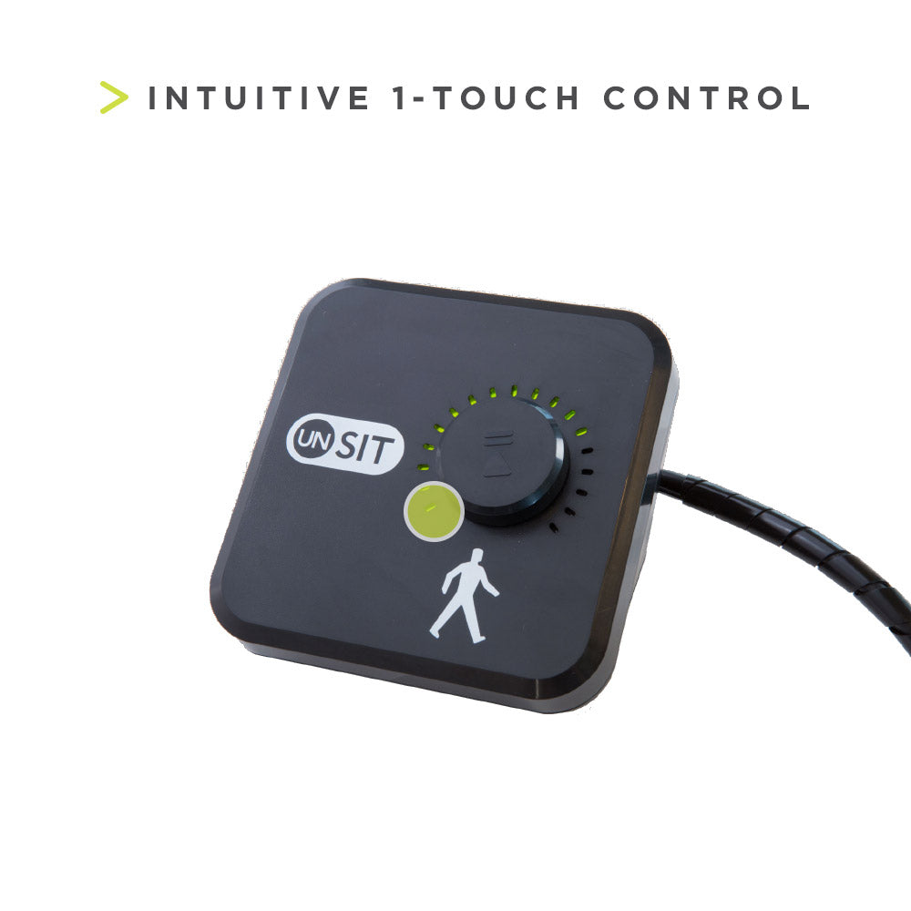 InMovement Unsit Treadmill Desk 1-touch controls