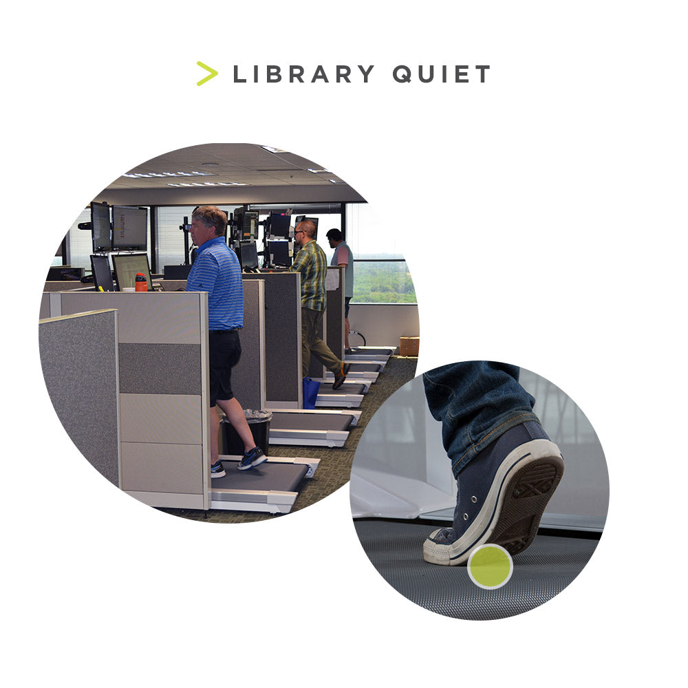 InMovement Unsit Under Desk Treadmill is Library quiet