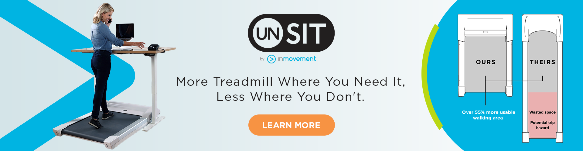 InMovement Home Page Banner featuring Unsit Treadmill Desk