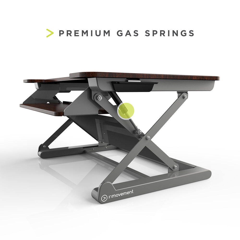 InMovement Standing Desk Pro DT20 gas springs allow effortless lifting